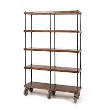 Industrial Bookcase Diy Shelves Astonishing Bookshelves On Wheels Bookshelves On Wheels