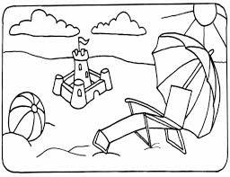 summer coloring pages kids free images coloring summer