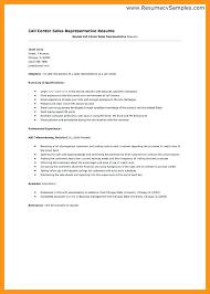 Sample Resume For Call Center Representative Sample Resume For A Call Center Agent Resume Call Center Agent No