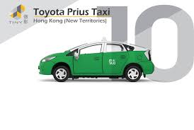 tomica toyota prius 2017 tiny city 10 die cast model car toyota prius hong kong taxi green
