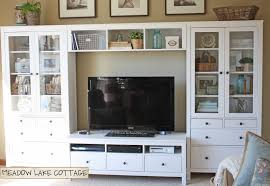 accessorized white entertainment center hemnes lakes and lake