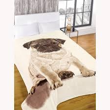Faux Fur Throw Blanket Throw Blankets Faux Fur Pug And Volkswagen Retro Campervan