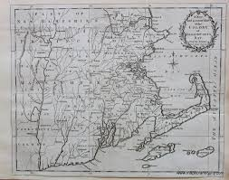Massachusetts Colony Map by Antique Maps And Charts U2013 Original Vintage Rare Historical