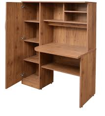Wall Shelves Pepperfry Buy Study Table In Knotty Wood Finish By Crystal Furnitech Online