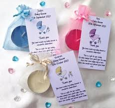 baby shower favors ideas 10 personalised baby shower favors scented candles thank you