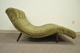 Vintage Chaise Lounge Midcentury Modern Double Wide Wave Chaise Lounge In The Style Of