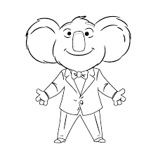 sing movie 0012 buster coloring pages for kids