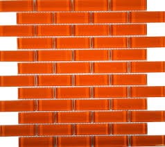 Backsplash Tile For Kitchen Awesome Orange Backsplash Tile 17 Orange And Grey Backsplash Tiles