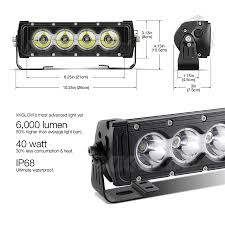 30 led light bar combo 10 inch 40w led light bar spot flood combo 6 000 lumens cree led