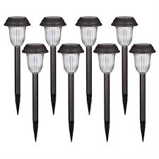 portfolio solar path lights portfolio charcoal brown solar powered led path lights 8 pack