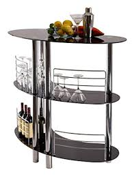 Glass Bar Table Curved Black Glass 3 Tier Home Pub Bar Table Co Uk