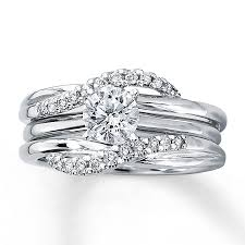 kay jewelers pandora kay diamond enhancer ring 1 5 ct tw round cut 14k white gold