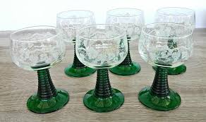 wine glass with initials roemer glass green stemmed german wine glasses