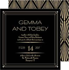 shop art deco wedding invitations magnetstreet