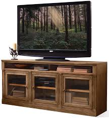 Darby Home Furniture 3 Door Tv Console With Beveled Glass Doors By Riverside Furniture