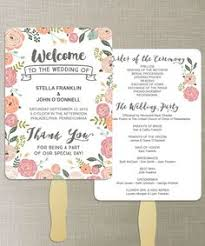 how to make wedding fan programs printable wedding program this script wedding program