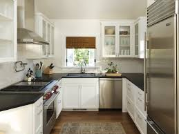 Small Kitchen Makeovers - small kitchen makeovers plan with cream kitchen cabinety features