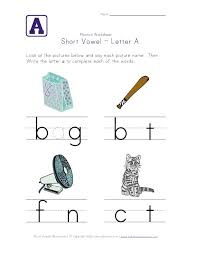 short vowel a worksheet go to site and there are sheets for all