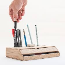 Desk Organizers Wood by Oitenta Estuche Wood Desk Organizer Juby Store