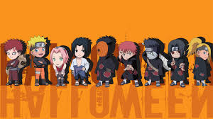 4k halloween background naruto mini characters halloween art 3840x2160 4k 16 9 ultra