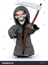 3d render man halloween party reaper stock illustration 34925338
