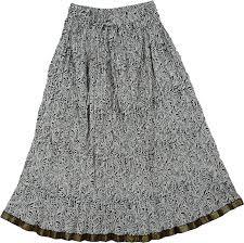 crinkled black white pattern long skirt clothing sale on bags