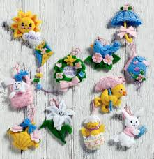new bucilla easter felt kits plaid