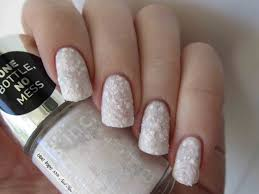 white glitter nail tips how you can do it at home pictures