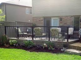 ancaster ontario canada black aluminum post and top rail with