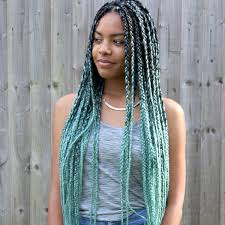 grey marley braiding hair catface hair mint green ombre jumbo braiding hair catface hair