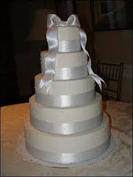 wedding cake ribbon white wedding cakes photos pictures weddingwire