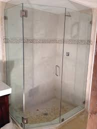 Angled Shower Doors Single Sliding Door The Original Frameless Shower Doors