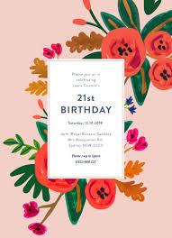 birthday invitations floral birthday dp birthday invitations