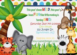 jungle birthday invitations jungle birthday invitations for simple
