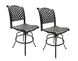 amazon com patio bar height bar stools armless outdoor swivel