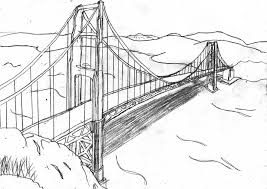 golden gate bridge coloring sketch coloring page