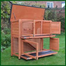 Rabbit Hutch With Large Run Rhl Large Rabbit Hutch And Run Free Cover Included Feel Good Uk