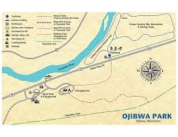 Wisconsin Campgrounds Map by The Ojibwa Park