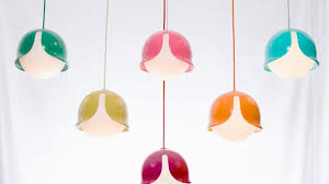 colorful snowdrop pendant lamp with a fun look digsdigs