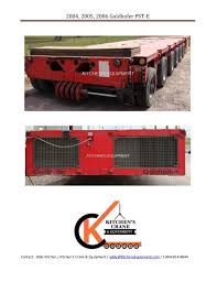 Kitchen Trailer For Sale by Goldhofer Pst E Trailers For Sale By Kitchen U0027s Crane U0026 Equipment