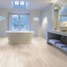can you put laminate flooring in a bathroom with light brown color
