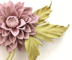 corsage flowers dusty pink leather dahlia flower corsage presentperfect