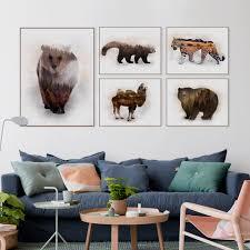 deer home decor squash deer head set of giclee fine art print