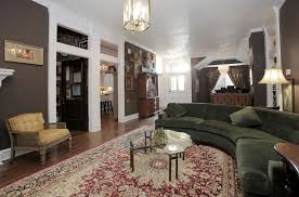 sage green sofa living room eclectic with estate sale fluted