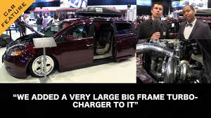 1000hp minivan instead if that hp number is actually accurate bisimoto 1029hp honda odyssey w hpa that s right a 1000hp van