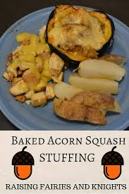 stuffed thanksgiving belly baked acorn squash stuffing