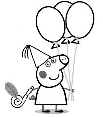 peppa pig birthday coloring pages 99coloring sarah