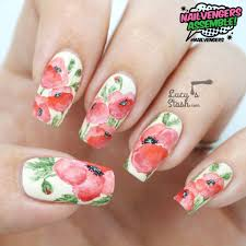 strawberry fields forever nail art tutorial nailvengers assemble floral nail art watercolor tutorials