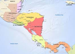 maps of north america and american countries in political map of