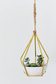 Hanging Plant Diy Geometric Metal Tubing Hanging Planter Planters Craft And